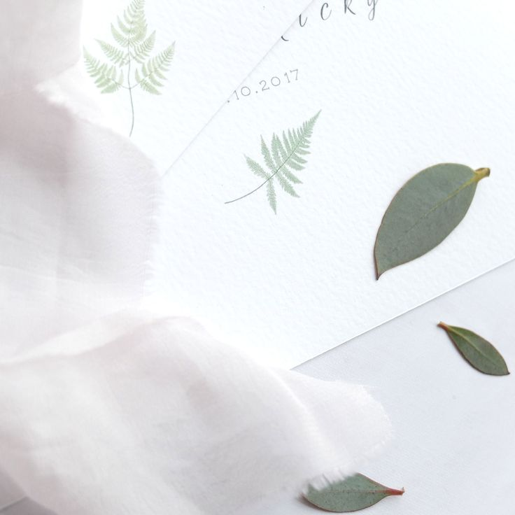it's all in the detail. Such a simple touch can make an invitation stand out and convey your theme so well! 🌿