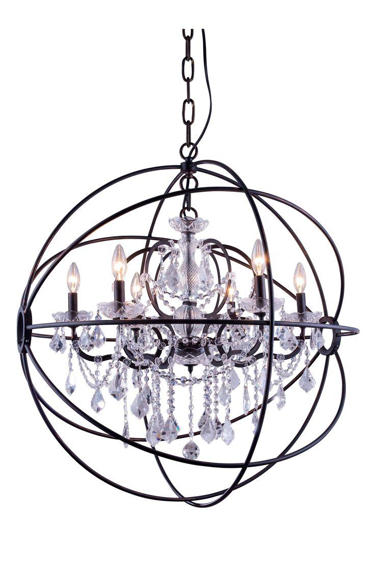 470 best chandeliers images on pinterest chandeliers chandelier elegant lighting geneva dark bronze chandelier with clear crystal arubaitofo Choice Image