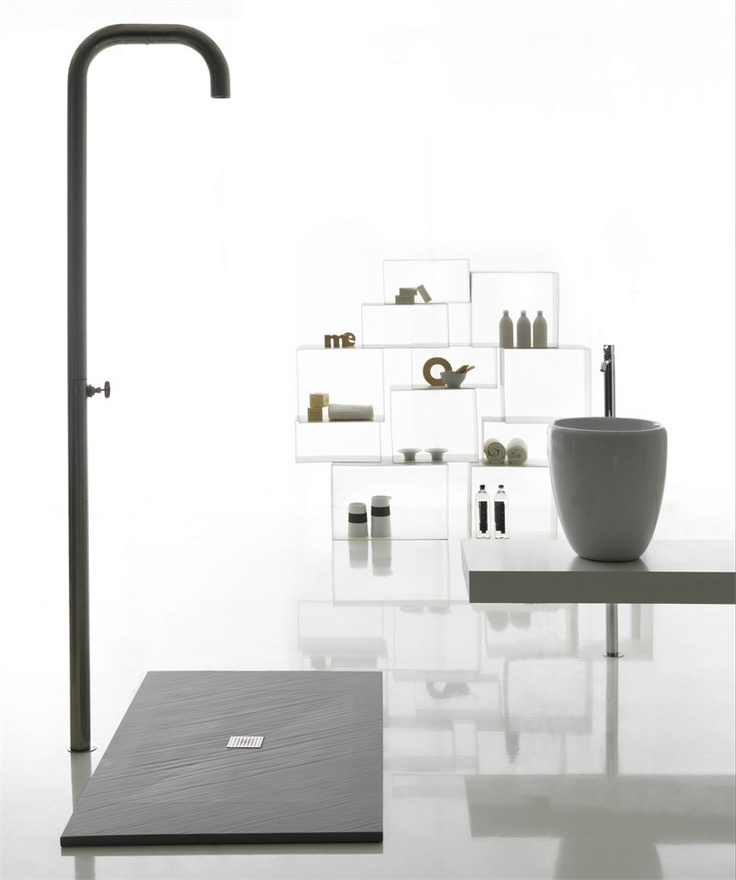 Extra flat Mineral Stone® shower tray PIANA by GALASSIA @Silke Stoltenberg Stoltenberg Stoltenberg Bssn deze?