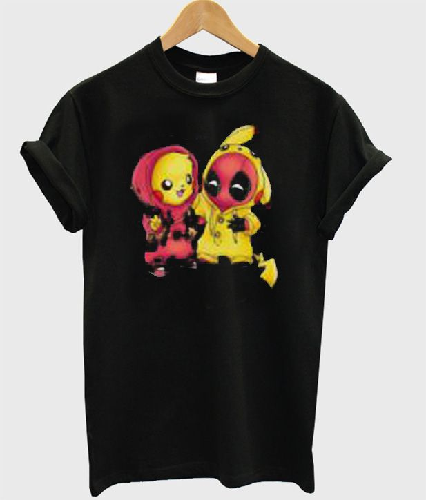 487ea9369 Pikapool Pikachu Deadpool T-Shirt in 2019 | Want | Deadpool t shirt ...