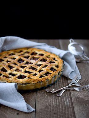 Křehký švestkový koláč / plum pie
