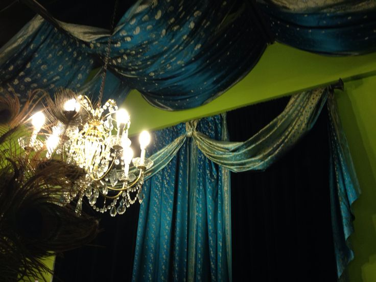 Our ceiling is as glam as glam as our walls! #bellydancechic