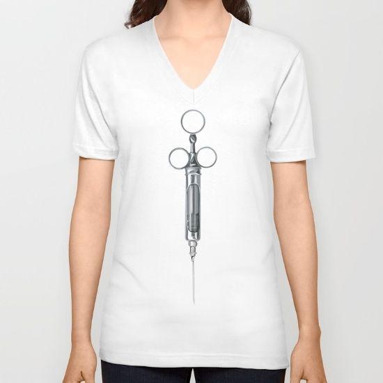 SYRINGE [v-neck t-shirt] by MESSYMISSY76