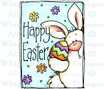 Easter Bunny & Egg - Easter - Holidays - Rubber Stamps - Shop