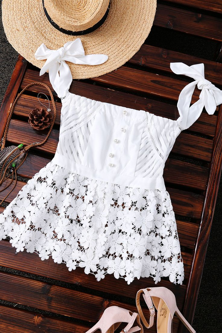 $16.38 Alluring Off-The-Shoulder Lace Sheer Stripe Women's Top