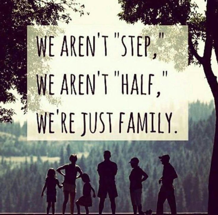 We aren't STEP We aren't HALF WE ARE JUST FAMILY