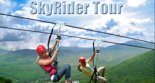 Why should you go? New York Zipline Canopy Tours at Hunter Mountain is the longest & highest zipline canopy tour in North America. Tours run year round.   | Hunter, NY :: Ettractions.com