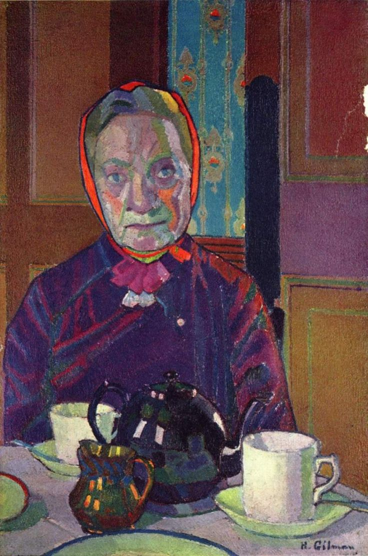 Harold Gilman, Mrs. Mounter at the Breakfast Table, 1917, Tate Gallery, London