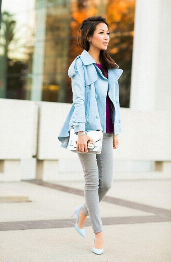 Spring Outfit Combos With Pastel Trench Coats