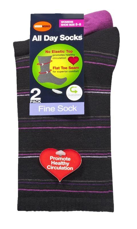 2 pack Women's All day cushion socks