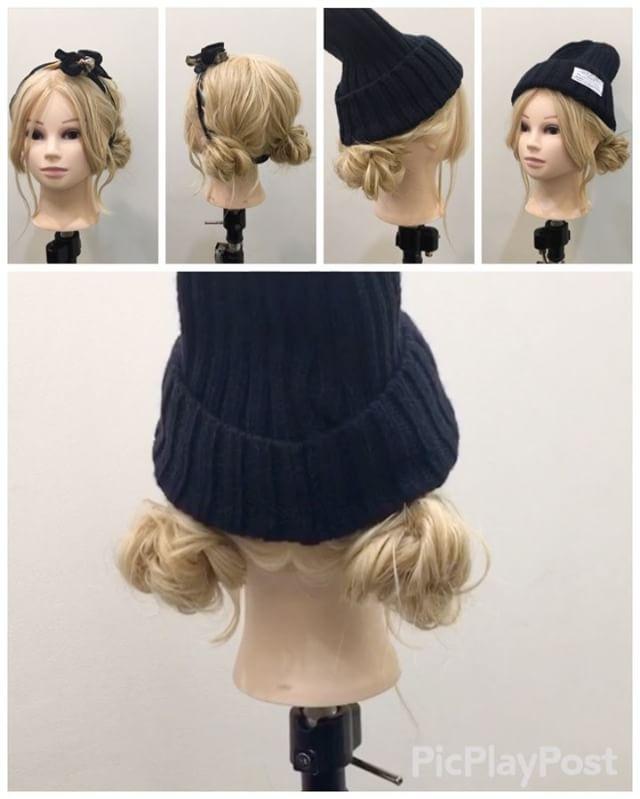 Double bun hairstyle   先日のアレンジ解説動画✨ 校閲ガール風スカーフアレンジ & ニット帽アレンジ★ 1,ツインテールを作ります 2,ロープ編みを作ります 3,ゴムの周りに巻き付けていきピンで止めます 4,反対も同じように作ります 5,お団子の下にスカーフを通して結びます Fin,崩したら完成です。 スカーフのかわりにニット帽にしても可愛いです 参考になれば嬉しいです^ ^ #ヘア#hair#ヘアスタイル#hairstyle#サロンモデル#サロモ#撮影#編み込み#三つ編み#フィッシュボーン#ロープ編み#まとめ髪 #アレンジ#結婚式#ブライダル#ヘアアレンジ#アレンジ動画#アレンジ解説#香川県#高松市#丸亀市#宇多津#美容室#美容院#美容師#校閲ガール#ニット帽#スカーフアレンジ