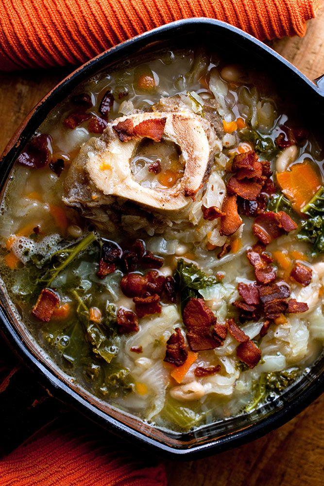 Recipe: Ham Bone Soup    Photo: Andrew Scrivani for The New York Times