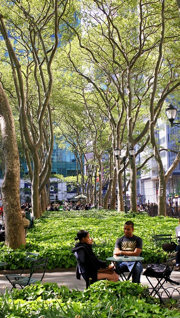 Bryant Park in NYC - My favorite park ever...I pretty much always want to be here.