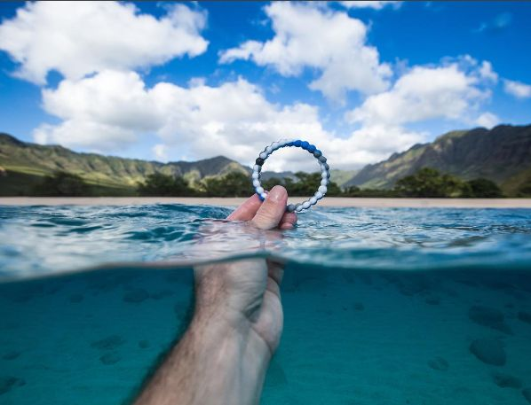A half-full perspective means admiring the ocean's beauty and taking action to save it  #shark #lokai