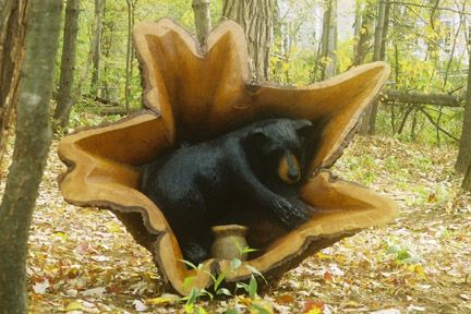 """chain saw sculptures 