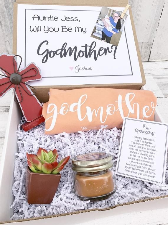 Gift for godmother Godmother gift Fairy godmother Will you be my godmother Godmother proposal Baptism gift Godmother present