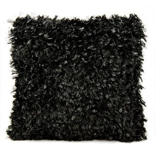 Michael Amini Shimmer Shag Black Throw Pillow (20-inch x 20-inch) by Nourison - Free Shipping Today - Overstock.com - 16179890 - Mobile