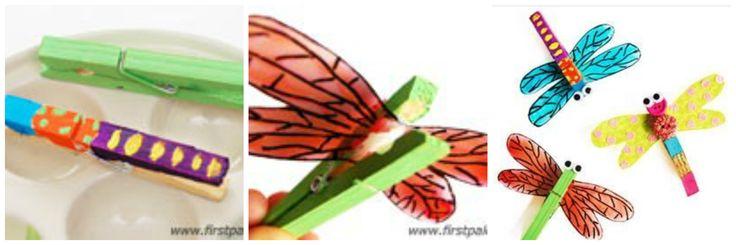 Diy mariposas de pinzas de ropa mariposas pinterest - Trabajos manuales en madera ...
