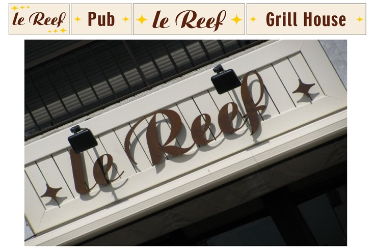 Le Reef Store front sign in old metal create by Contraste
