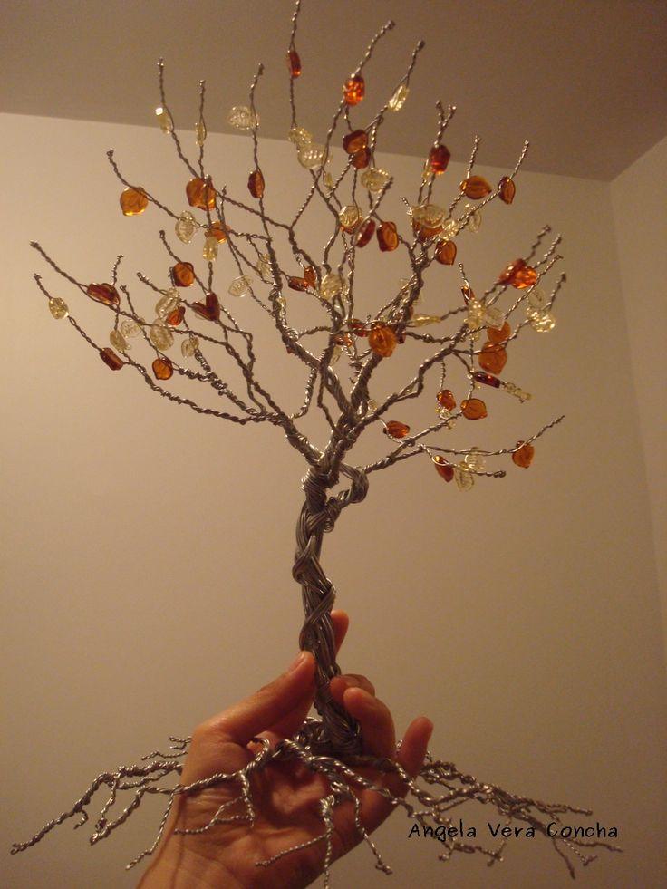 17 mejores ideas sobre rboles de alambre en pinterest - Arbol de navidad artesanal ...