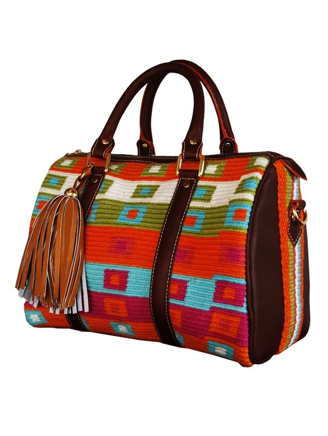 Handmade Colorful Wayuu Print Handbag