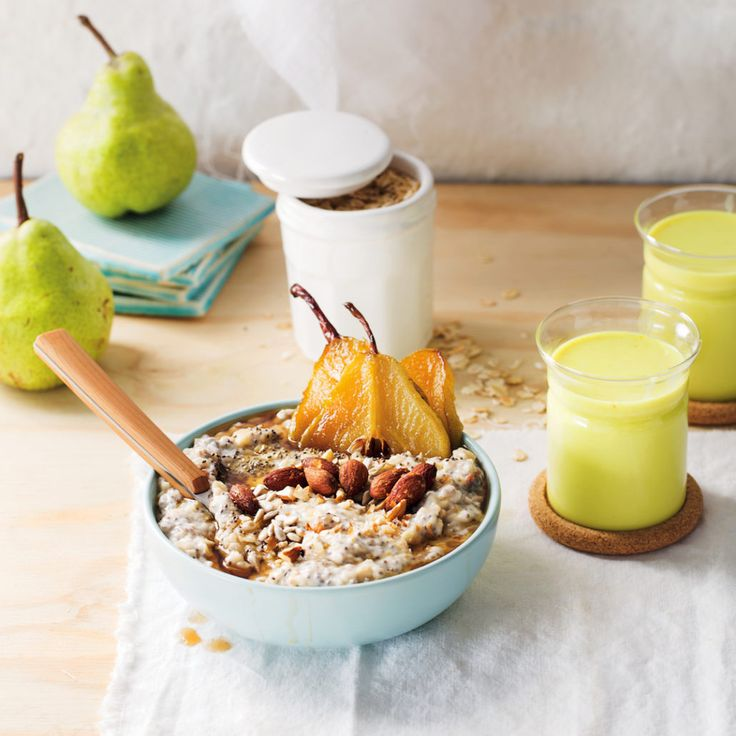 Studded porridge with caramelised pears - MyKitchen