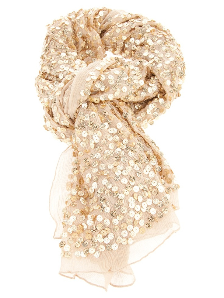 Sequin scarf... sooo my style!!
