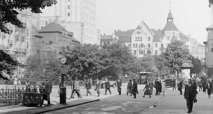 Warszawa międzywojenna - Plan Napoleona, fot. Willem van de Poll (1934)