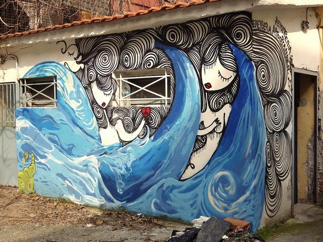 waves - 2013, thessaloniki, greece  artist: sonké