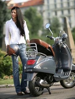 Girls with Vespa