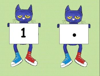 Pete the Cat Number Count and Match Game