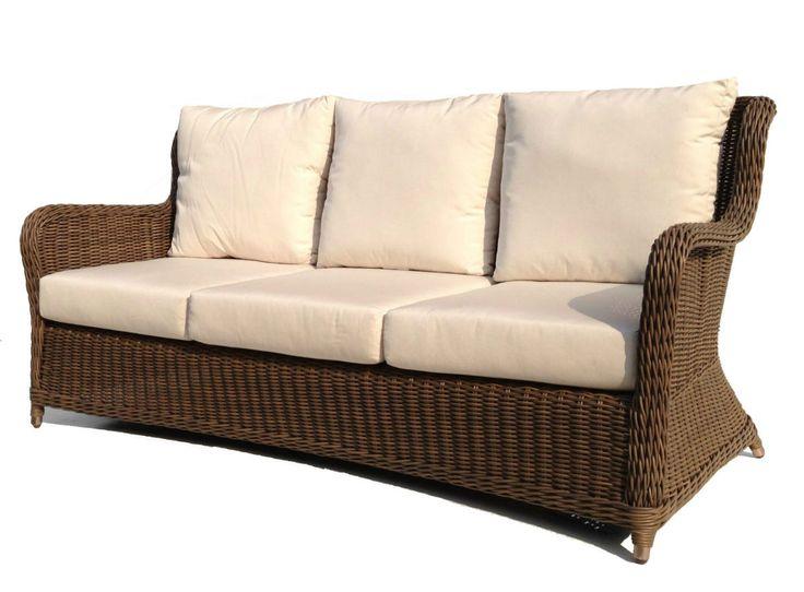 Chesterfield Sofa Bayshore Outdoor Wicker Sofa wicker patio furniture