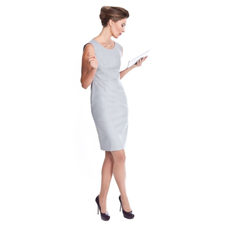 Handsome Grey Work Dresses