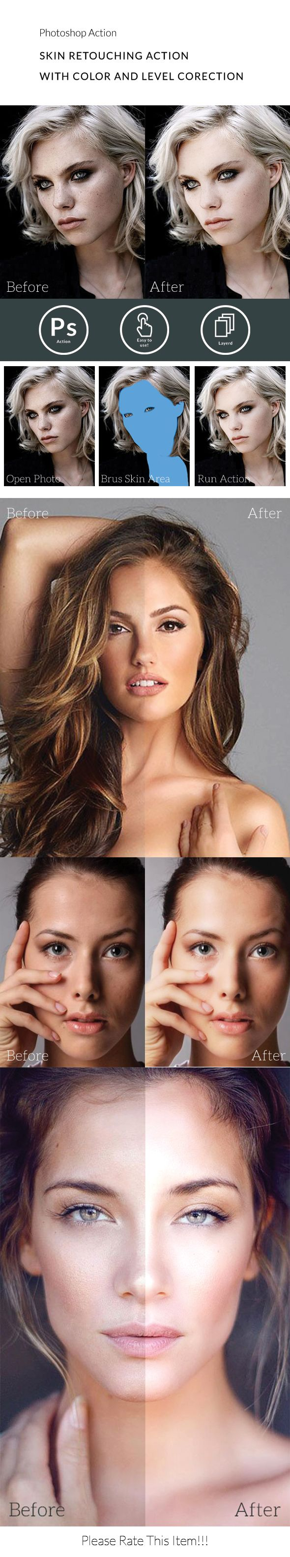 Breathtaking Skin Retouching Photoshop Action • Only available here ➝ http://graphicriver.net/item/skin-retouching-action/16282311?ref=pxcr