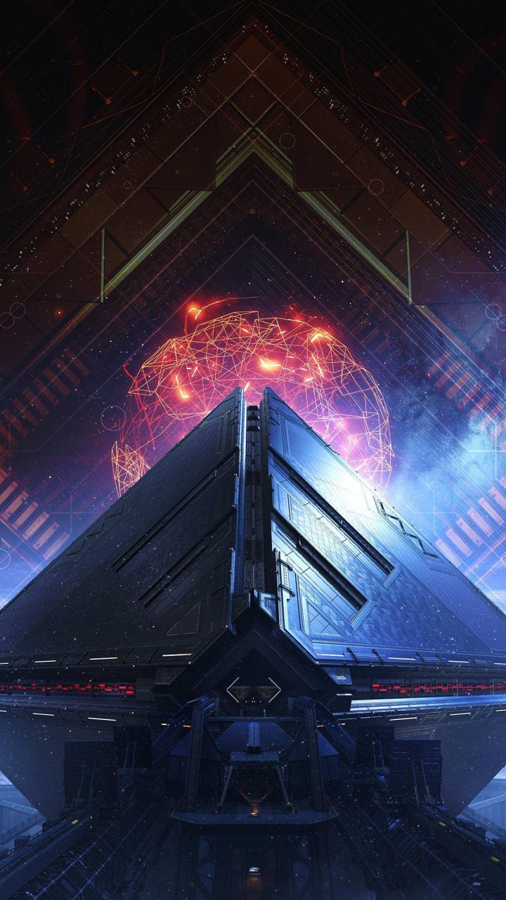 Destiny 2 Warmind Video Game Pyramids 720x1280 Wallpaper