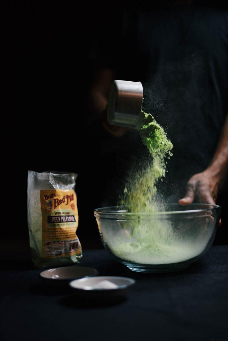 green pea socca/farinata with lemon thyme and lunu miris sambol | A Brown Table, food photography, food styling