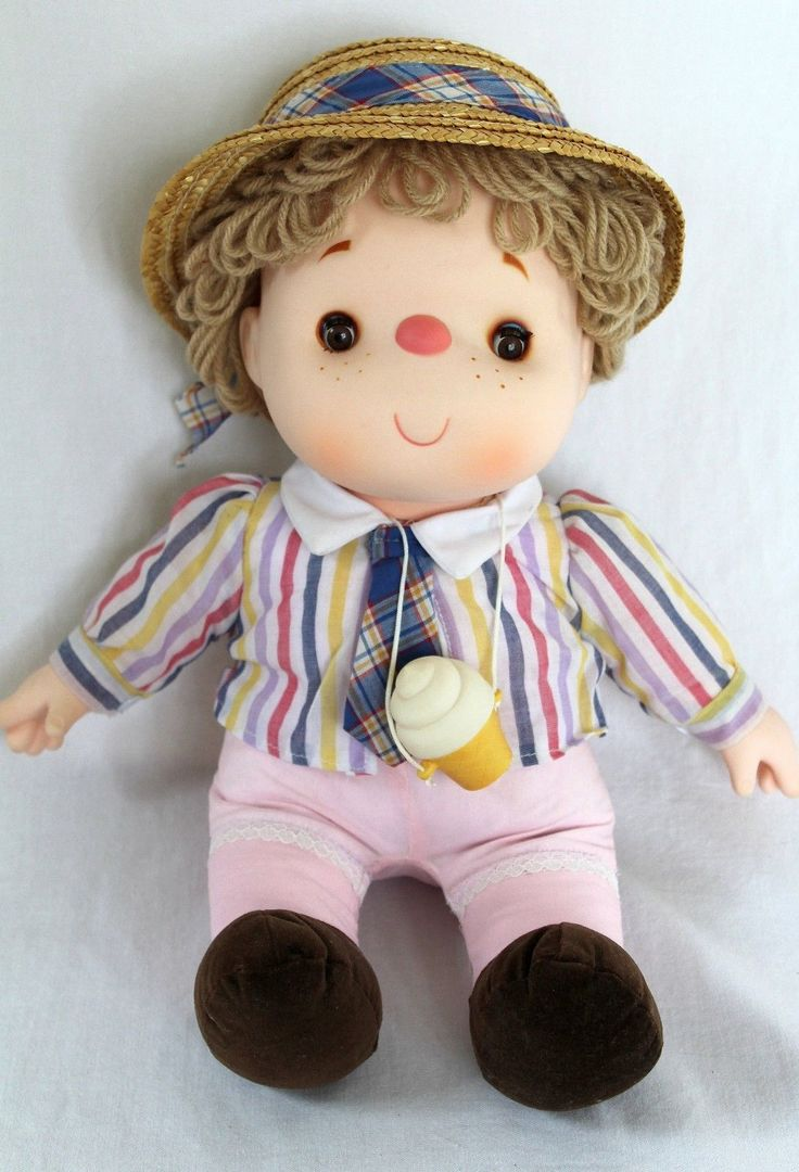 Vintage 1980 Ice Cream Doll 14 Cone Necklace Hat Tie Original Clothing Euc!