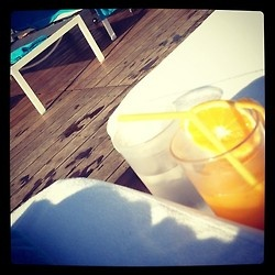 fresh squeezed oj. lots of it. (Taken with Instagram at Air Lounge Bar - Fresh Hotel)