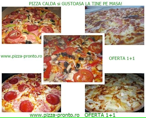 OFERTA 1+1 valabila la pizza diam. 32 cm. Oferta valabila permanent