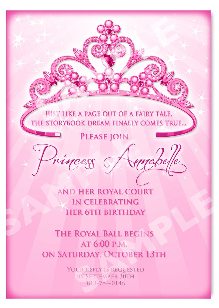 princess birthday invitation diy princess by