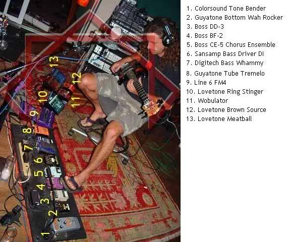 justin chancellor pedalboard - Google Search