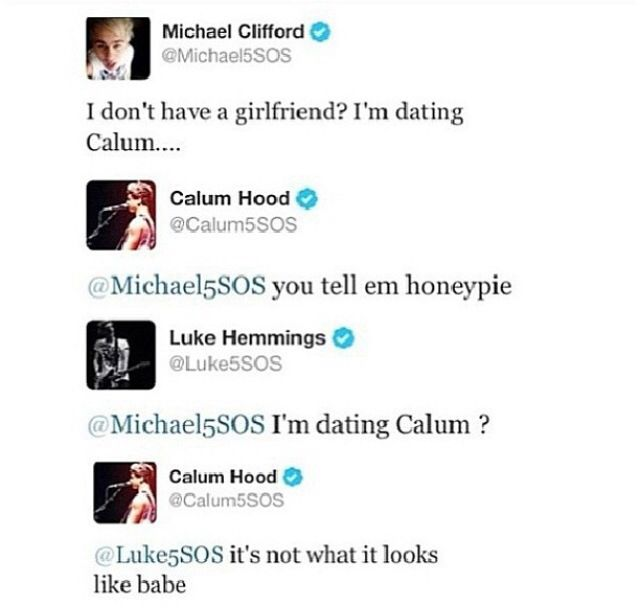 ok so clearly me mikey and luke are gonna need to fight in order for one of us to be with calum, because im dating him as well... sorry boys calum loves me lol