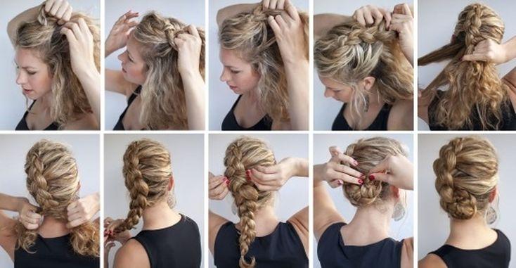 """прическа """"Скорпион"""" на длинные волосы для каждого дня"""