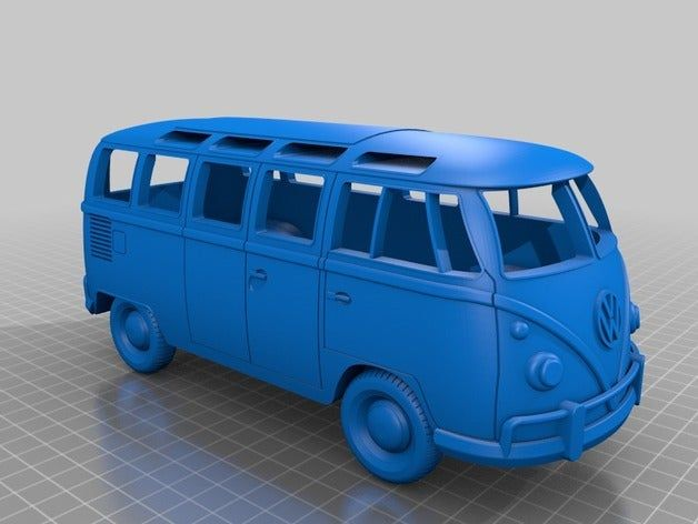 Volkswagen Bus 1970s By Chaoscoretech Thingiverse