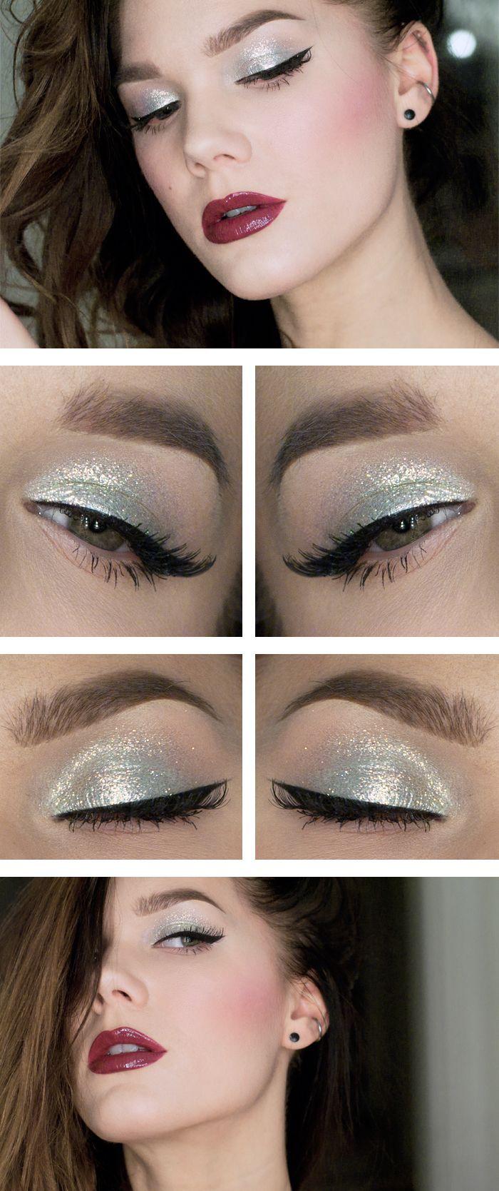 glitter plateado