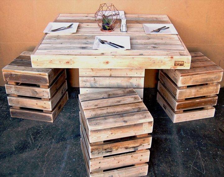 Best Pallet dining tables ideas on Pinterest