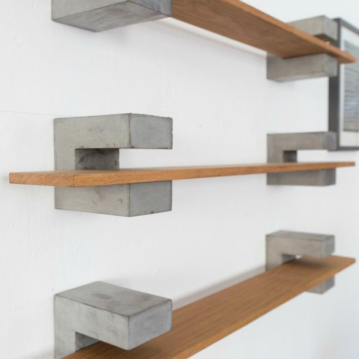 Wood Amp Concrete Shelf Stayngrow Inc Marion Art In