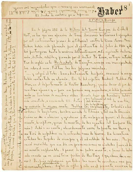 Borges manuscript