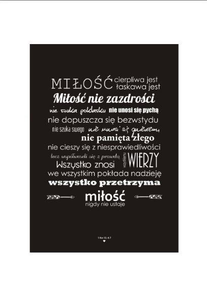 hymn o miłości. list do Koryntian plakat corinthians love poster. homebook