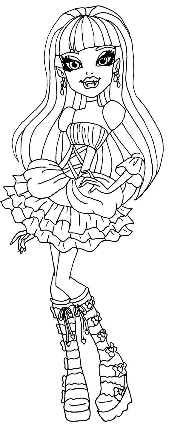 Monster High Elissabat Coloring Pages Printable Halloween Coloring Pictures Halloween Coloring Monster High Halloween